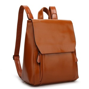 Image 3 - FGJLLOGJGSO brand 2019 New women PU leather school bags for teenage girls casual backpack Wax oil skin Lady Travel Shoulder Bag