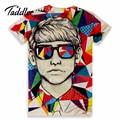 2016 Model new Men short sleeve t-shirt men 3d t shirt printing casual tshirt tops summer Men O neck print T-shirts tee clothes