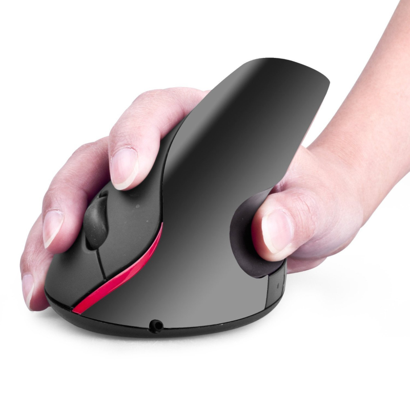 2.4G Wireless Vertical Ergonomic Optical Mouse Ergonomic Design Built-in Lithium Rechargeable Battery for Windows XP 7 8 10 Mac