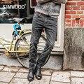 SIMWOOD 2018 Men <font><b>Jeans</b></font> New Fashion Men Casual <font><b>Jeans</b></font> Slim Straight <font><b>Jeans</b></font> Plus Size Long Trousers Hot Sale High Quality NC017026