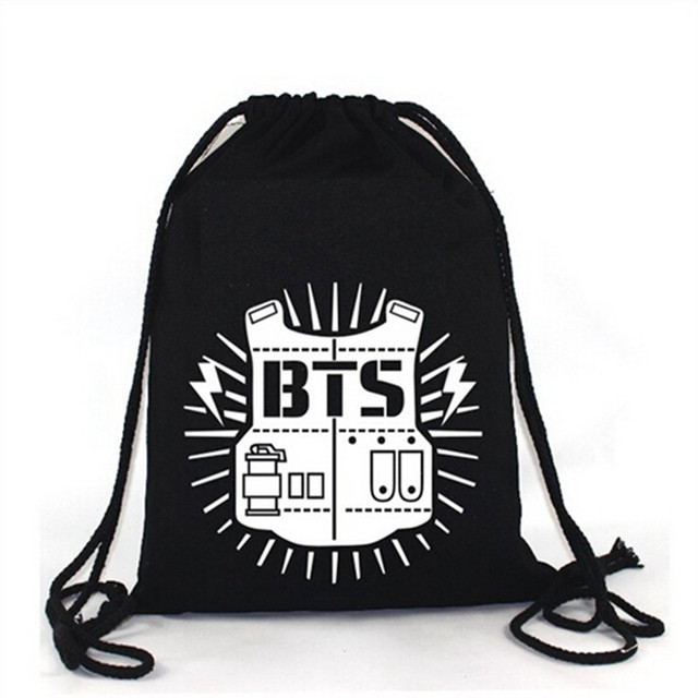 KPOP BTS Bangtan Boy Backpack BTS shoulder Bag String bag-in Storage ...