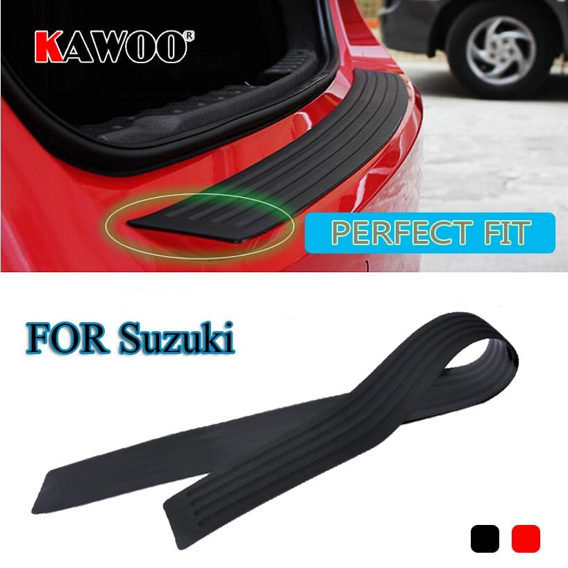 KAWOO For Suzuki Jimmy Swift Alto Ignis Splash SX4 Vitara Rubber Rear Guard Bumper Protect Trim Cover Sill Mat Pad Car Styling alto alto sx sub18 18