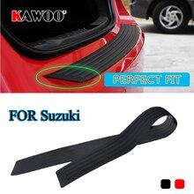 KAWOO For Suzuki Jimmy Swift Alto Ignis Splash SX4 Vitara Rubber Rear Guard Bumper Protect Trim Cover Sill Mat Pad Car Styling