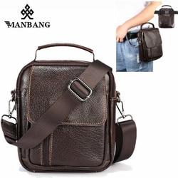 ManBang НОВОЕ из натуральной кожи Для мужчин Crossbody сумки небольшой лоскут Курьерские сумки Винтаж Повседневное сумка Для мужчин плечо Сумки по...