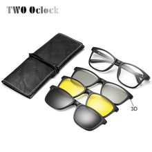 TWO Oclock 2018 Multi-Function Magnetic Polarized Clip On Sunglasses Men Women U