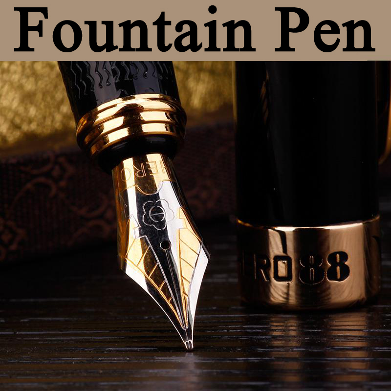 HIGH QUALITY Luxury Nobility Fashion 0 5mm Iraurita Nib Fountain Pen School Office Supplies Beautiful Box