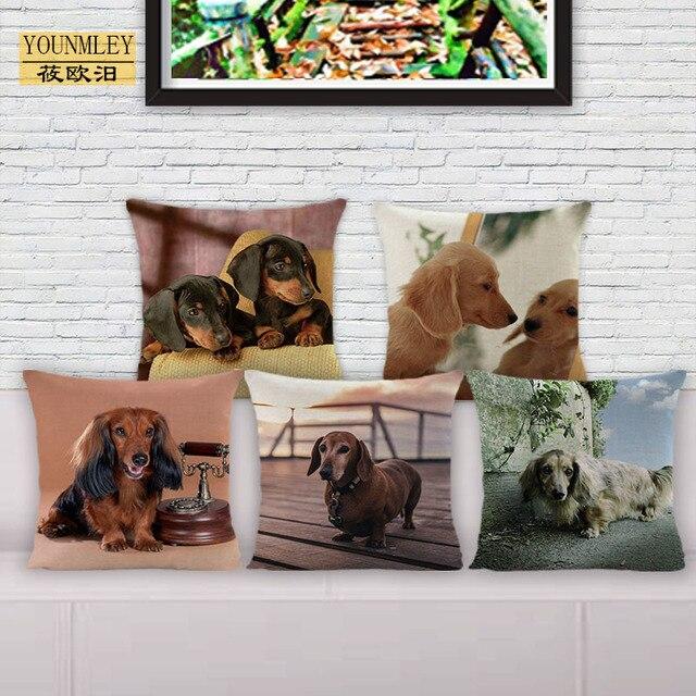"""2018 NUOVO perro salchicha bassotto copertura del cuscino 18 """"per la casa cuscin"""