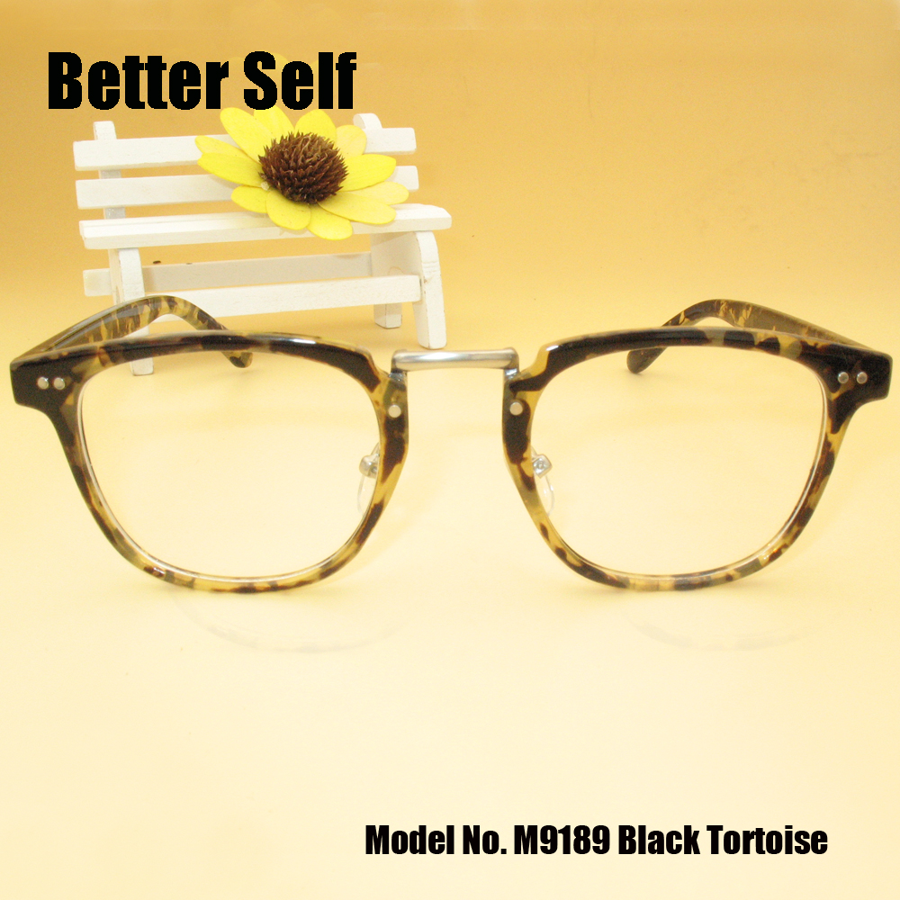 better self m9189 full rim spectacles tortoiseshell print frames vintage pc optical eyeglasses myopia glasses