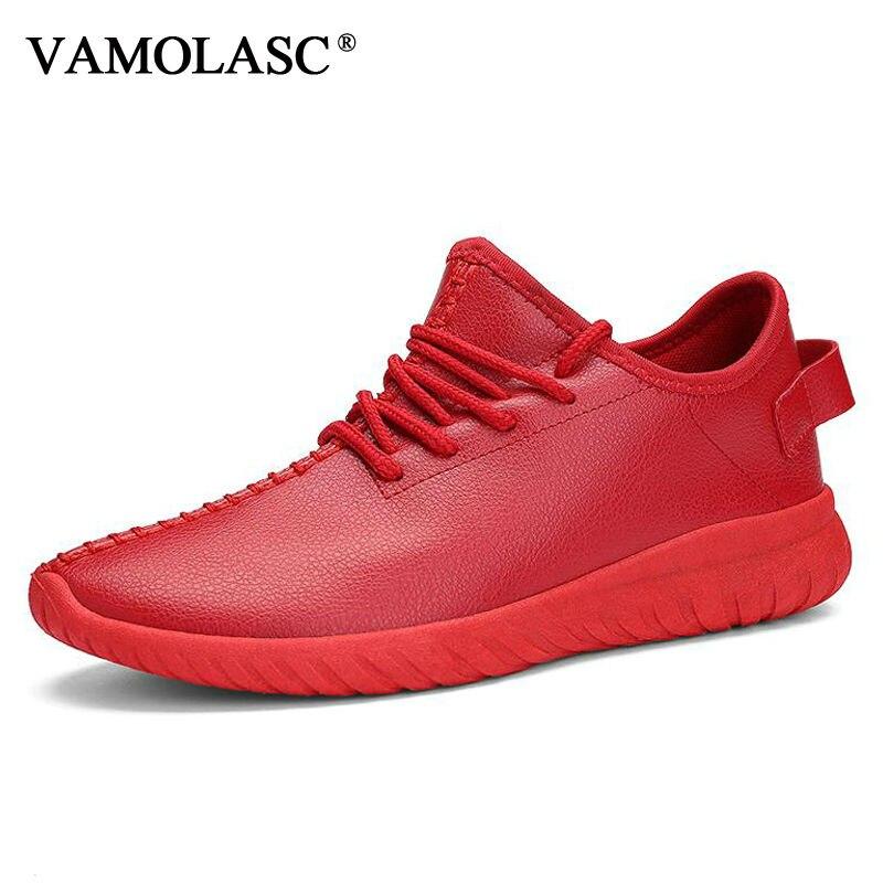 VAMOLASC New Men Sport font b Running b font font b Shoes b font Breathable PU