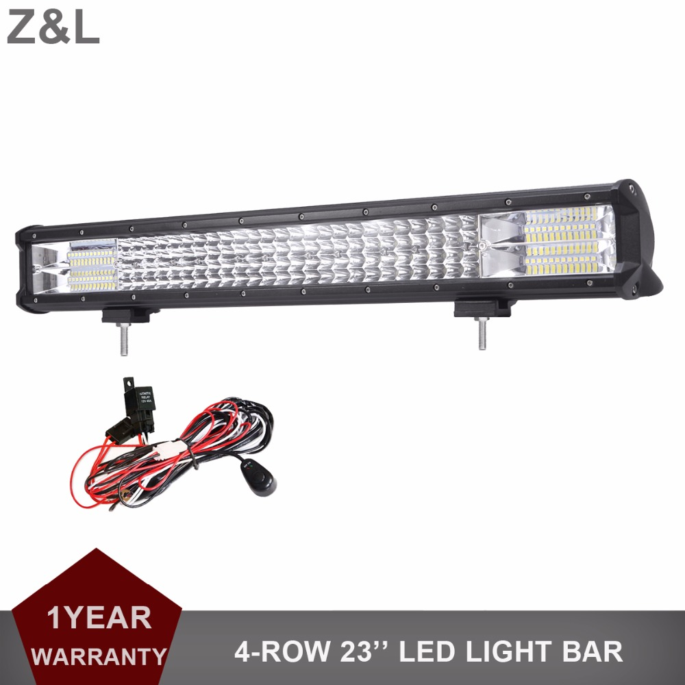 Z&L 23 INCH OFFROAD LED WORK LIGHT BAR CAR SUV ATV UTE WAGON TRAILER TRACTOR 4X4 4WD BUMPER 12V 24V COMBO AUXILIARY DRIVING LAMP 9 90w 5d led work light bar spot flood auxiliary headlight 12v 24v offroad 4wd 4x4 tractor ute truck suv atv led driving lamp