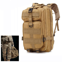 e0f3c07944 3P Outdoor Military Tactical Backpack 30L Oxford Bag Army Camping Rucksack  Hiking Trekking Travel Cycling Camouflage