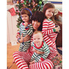 2018 New Baby Boys Girls Christmas Stripe Pajamas Pjs Kids Cute T Shirt Pants Set Sleepwear