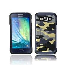 Double Portective Phone Case For Samsung Galaxy E5 Shockproof  TPU+PC Camo Armor Protective Hard Case Cover Skin Fundas