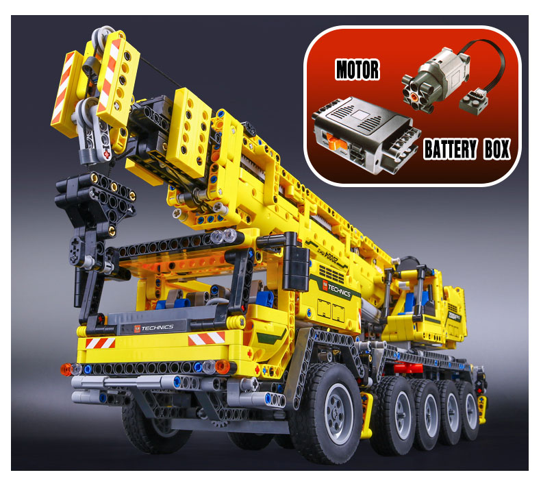 DHL 20004 Technic Motor Power Mobile Crane Mk II Model Building Kits Blocks Bricks Birthday Compatible with Legoings 42009 Toys 18