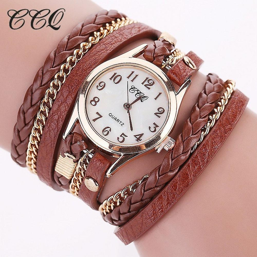 CCQ Women Watches Gift Brown Elegant Girl Vintage Fashion New Quartz OC0811 Analog Casual