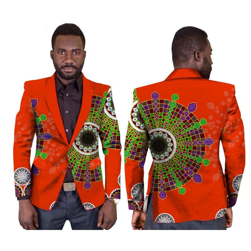 Vêtements africains pour hommes de haute qualité Slim Blazer hommes bouton unique robes de bal régulières africaine Dashiki hommes imprimer vêtements