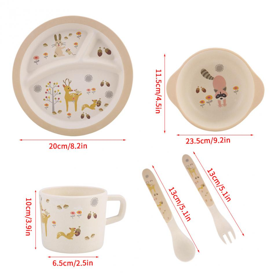 Please understand that colors may exist chromatic aberration as the different placement of pictures.  sc 1 st  AliExpress.com & 5 Pcs/set Baby Feeding Dishes Food Container Bamboo Fiber Children ...