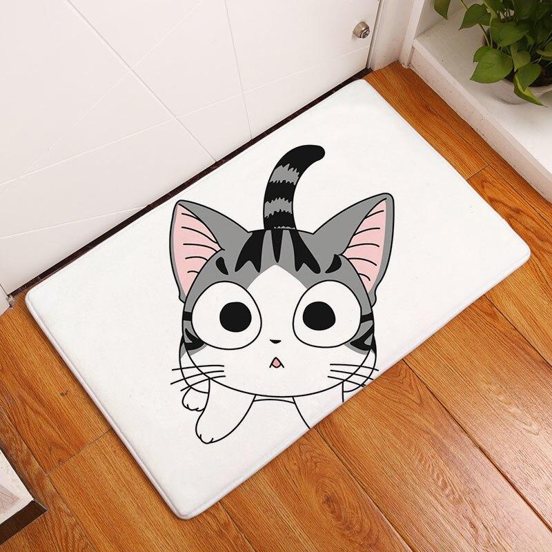 Мягкий коврик для ванной, милый домашний коврик с рисунком кота, коврики для ванной комнаты, коврики для кухни, гостиной, впитывающие Противоскользящие коврики - Цвет: 3