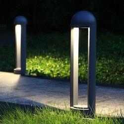 Thrisdar 60 CM na zewnątrz ogród lampa trawnikowa wodoodporna ścieżka krajobraz lampa na filarze dziedziniec willa Park Post trawnik Spotlight