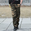 2014 new military  tactical pants men Multi-pocket washing men's overalls army green Camouflage cargo pants for men,K001