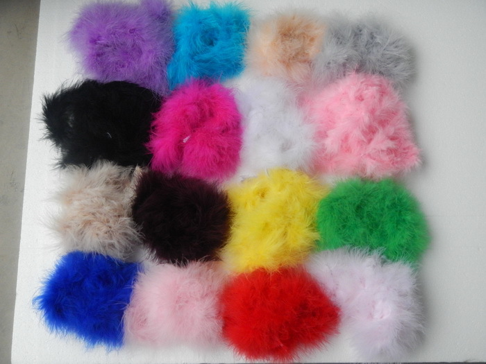 free shipping 300pcs mix color fashion curl ostrich puff feather bows baby feather hair