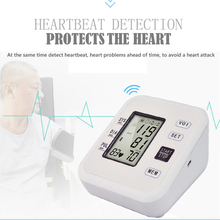 Sphygmometer LCD Digital Upper Arm Blood Pressure Monitor Portable Tonometer Arm Cuff Heart Beat Meter Health Care Machine yongrow wireless digital upper arm blood pressure monitor with cuff adjustable cuff that fits standard and large arms