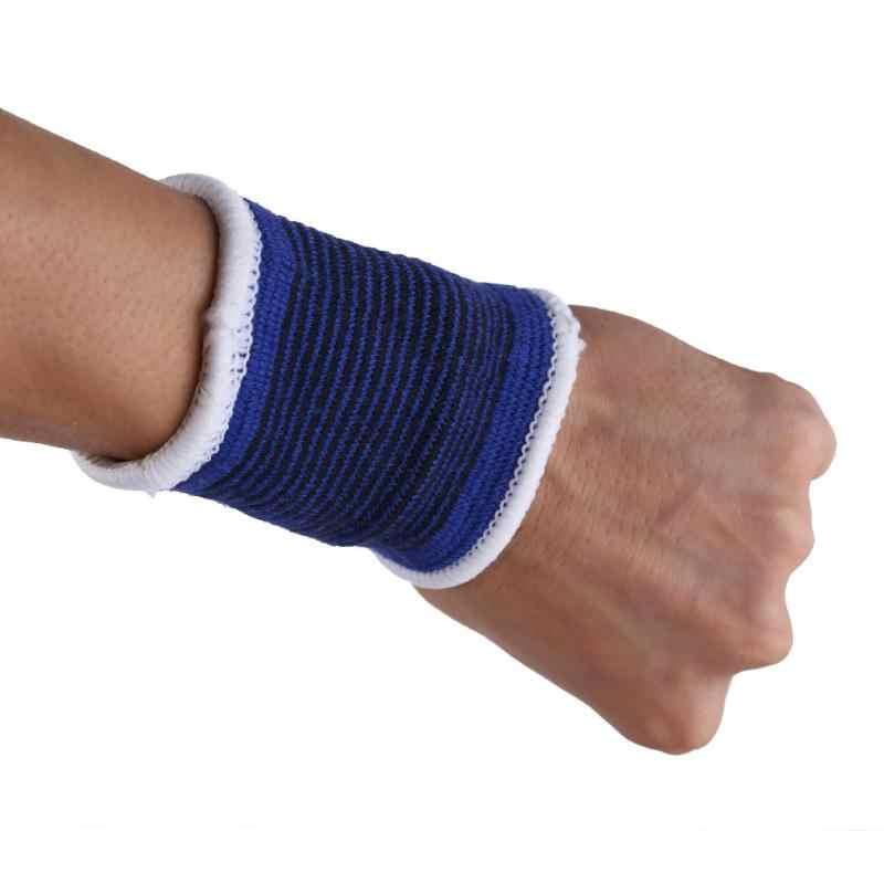2 × 弾性スポーツ Sweatbands 手首汗バンドフィットネスジムリストバンドバンド伸縮性包帯足首ブレース