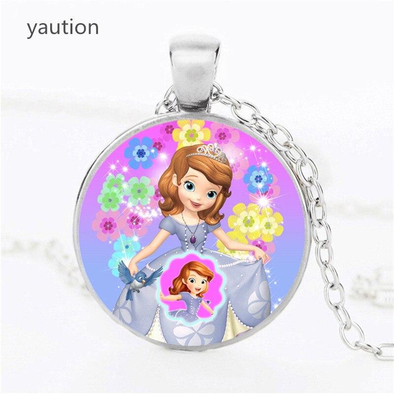 Новая София первое ожерелье Принцесса София кулон красивая принцесса стеклянный купол ожерелья и подвески детские украшения