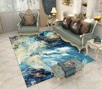 300*200CM Super Large INS fashion Soft Flannel black and white Rug thick soft living room Carpet play mat Non slip rug blanket