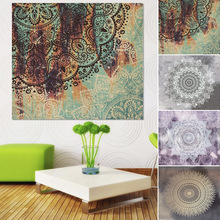 Indian Tapestry Colored Printed Decor Religious Boho Wall Carpet Bohemia Beach Blanket Bed Sheets