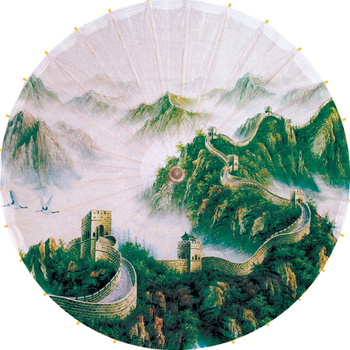 Free shipping spring scenery of the Great Wall umbrella rain-proof and parasol Dia 84cm oiled paper umbrella