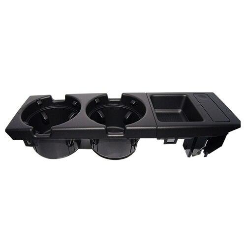 Двойной отверстие спереди автомобиля центральная консоль чашка стойки / изменить поле для БМВ E46:черный