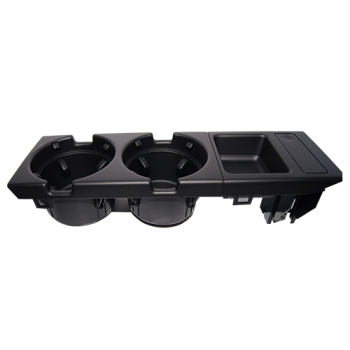 Plastic Cup Holder | Double Hole Car Front Center Console Cup Rack / Change Box For BMW E46:black