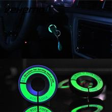 Фотография LED Luminous Car Ignition Key Ring Decor Sticker For Ford Chevrolet Mazda Toyota