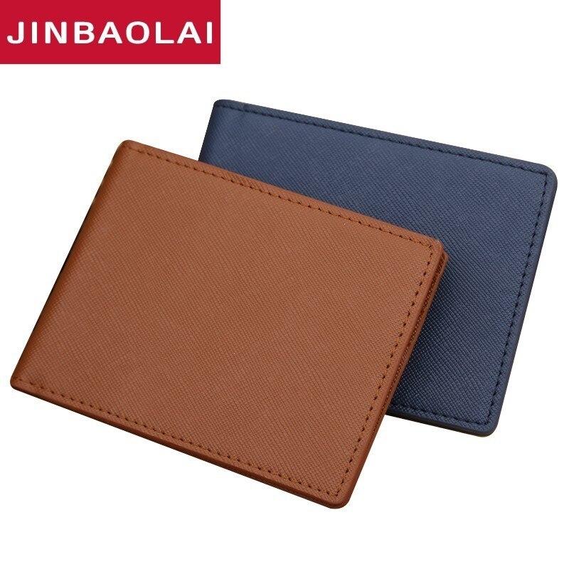 JINBAOLAI Brand New South Korea Multifunctional Fashion Money Clips with 2 Colors Ultra-thin Men Wallet With PU leather jinbaolai