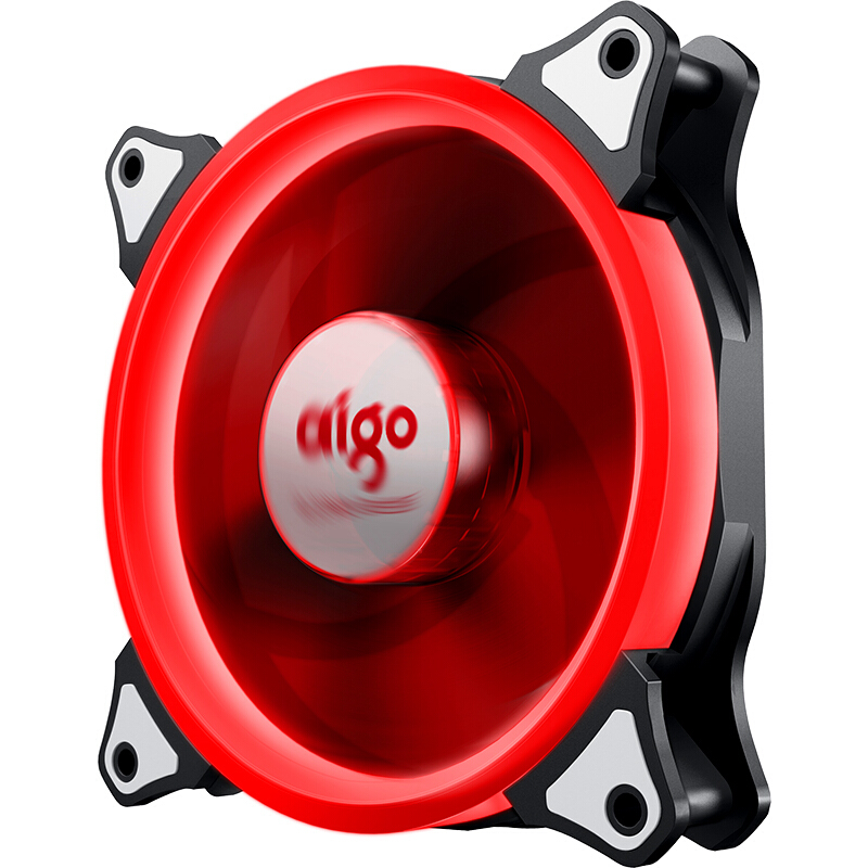 Aigo Aurora 120mm Case 4PIN LED Fan Cooling For Computer 12V Cooling Fan Double Ring Quietly
