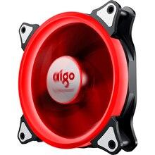 Aigo Aurora 120 мм корпус 4PIN светодиодный вентилятор охлаждения для компьютера 12 В Вентилятор охлаждения двойное кольцо легко установить хорошую цену съемный
