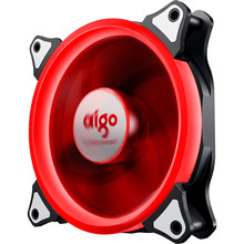 Aigo Aurora 120mm Case Fan 3PIN+4PIN LED Cooling Cooler 12V Cooling Fan Double Ring Quietly Easy Install computer fanDetachable(China)