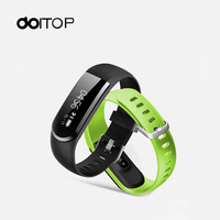 New OLED Smart Wristbands ID101U HR Intelligent Heart Rate Bracelet Smart Watch USB 3 0 Charging