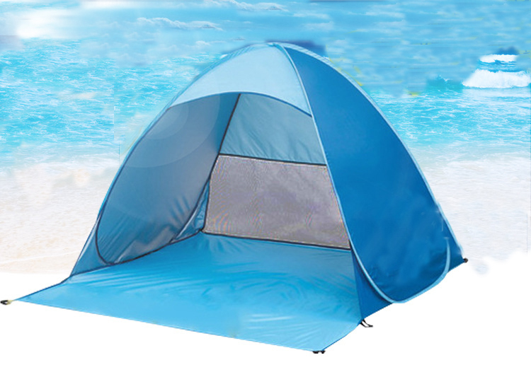 Double Tent Outdoor camping trip beach sunscreen automatic folding tent set up beach trip