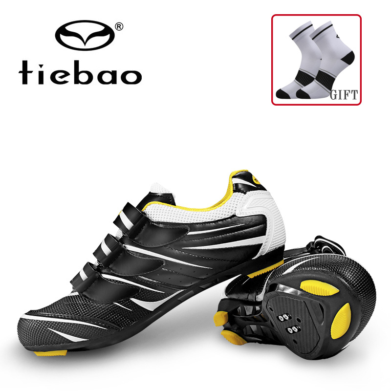Tiebao Road Racing Bike Shoes Ultralight Mens Breathable Athletic SPD Self locking Professional MTB Cycling Bicycle