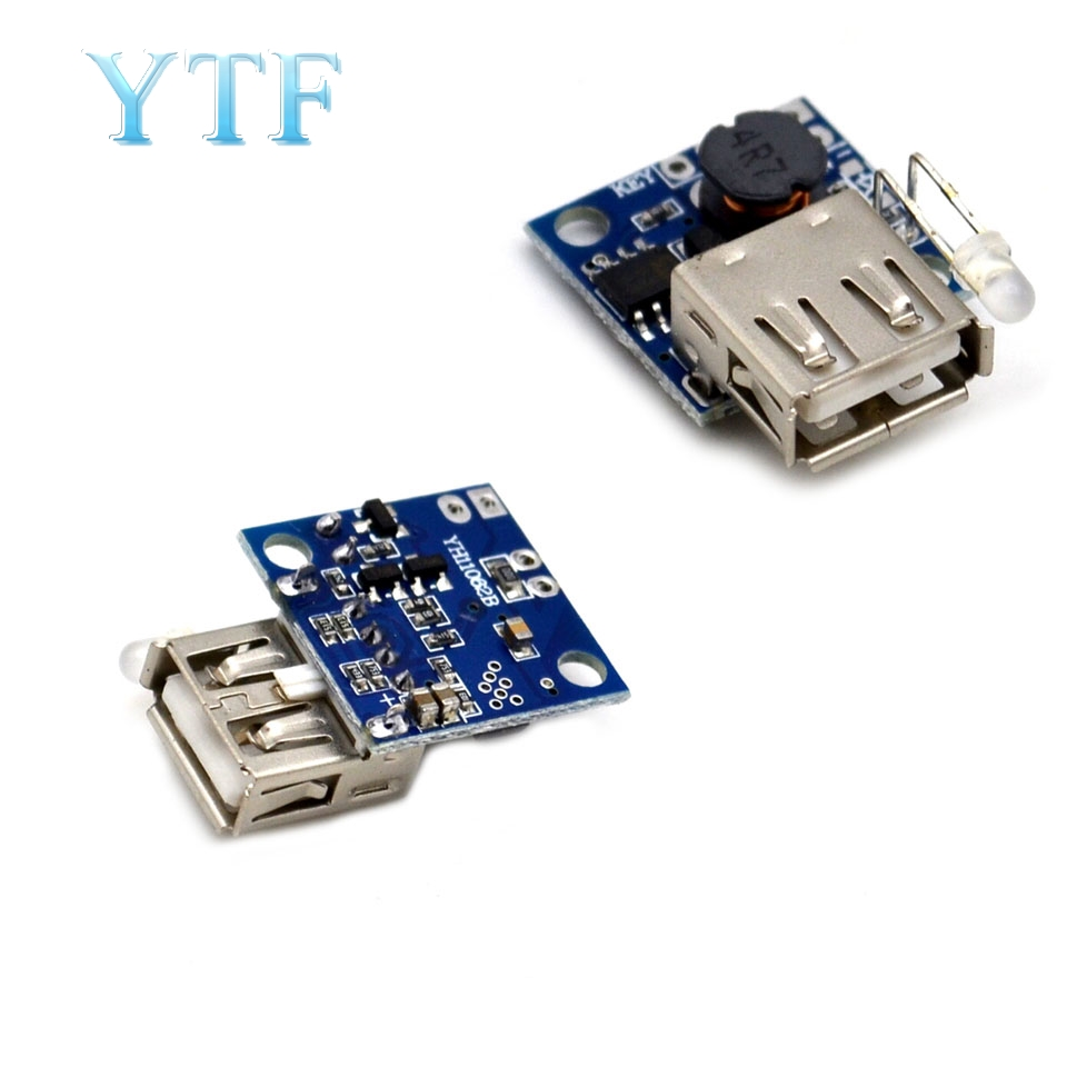 DC-DC Boost Module Ultra-small Mobile Power Board With Power Indicator 3A High Efficiency Boost Board