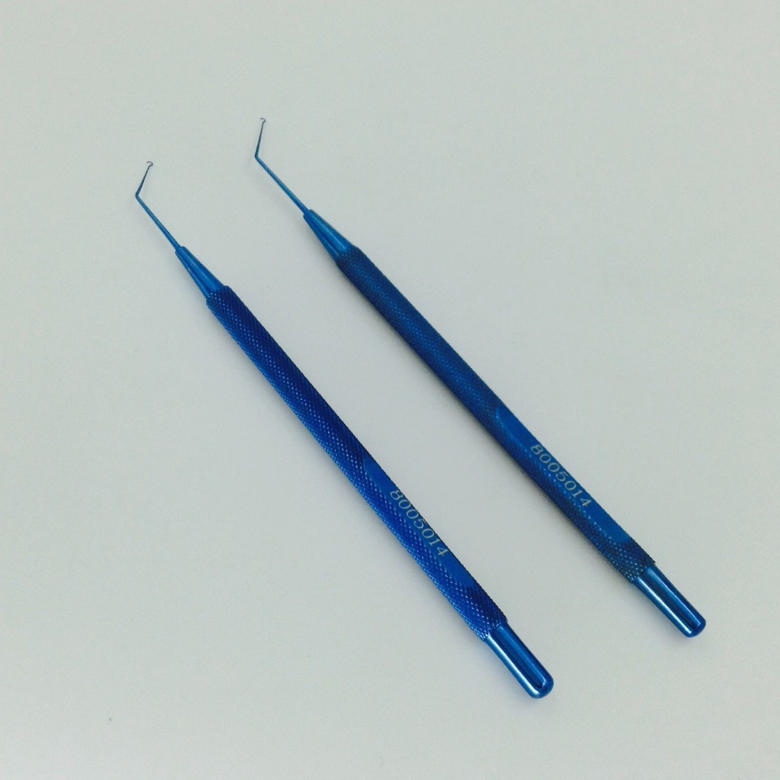 2 Pieces Best Titanium Jaffe-Knolle Iris Hook Ophthalmic Instrument