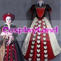 Alice In Wonderland 2 Red Queen Cosplay Costume Halloween Costumes for Adult The Red Queen Dress Fancy Queen Costume