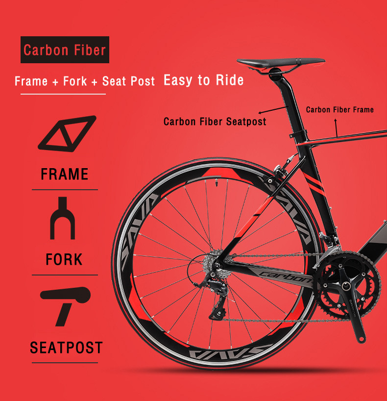 SAVA Road Bike 700c Carbon Road Bike Speed Carbon Road Bicycle Carbon Bike with SHIMANO 105 R7000 EU Taxes free Velo de route