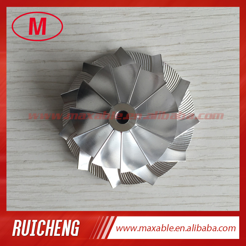 CT10V 42,87/62,00 мм 17291-0L040 обновление 11 + 0 лопасти турбо заготовка/Фрезерование/алюминиевый 2618 компрессорный колесо для 17201-0L040 обновление