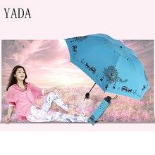 YADA 베스트 셀러 레드 & 블루 동화 학생 접는 우산 비 여자 UV 코팅 우산 우산 도매 YS080
