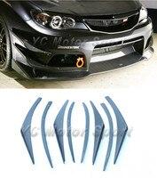 Автомобильные аксессуары из углеродного волокна против стиля Решетка переднего бампера комплекты 8 шт. подходят For2008 2012 Impreza GRB STI для оперен