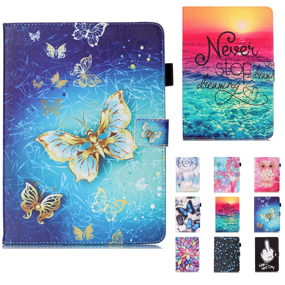 SM-T377 Dreaming Wallet PU Leather Stand case cover for samsung galaxy tab E 8.0 T375 T377 T377V folio tablet print case #A