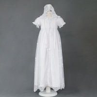 3 pcs/set Baby Girl Dress Vintage Baby Christening Dresses Party Newborn Embroidery Autumn Winter Christening Gown Baby Dresses